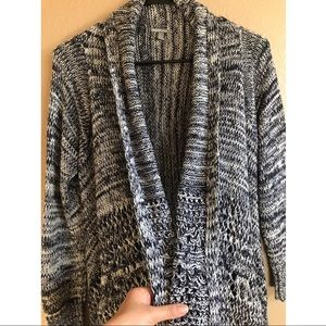 Drapey open front knit cardigan